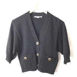St. John Santana knit cropped cardigan sweater S